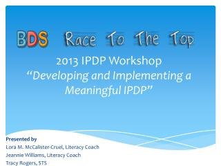 """2013 IPDP Workshop """"Developing and Implementing a Meaningful IPDP"""""""