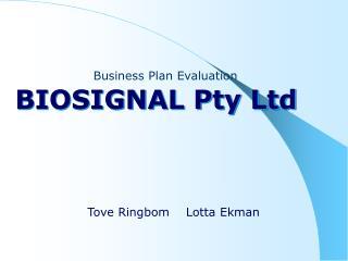 BIOSIGNAL Pty Ltd