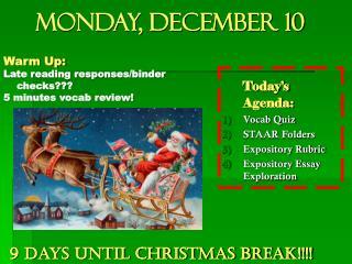 Monday, December 10