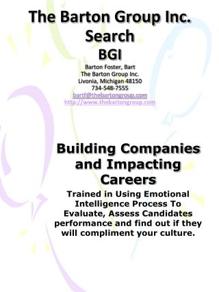 Building Companies and Impacting Careers