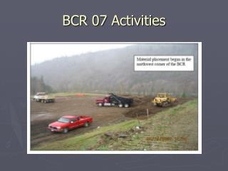 BCR 07 Activities