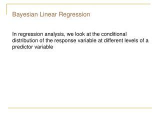 Bayesian Linear Regression