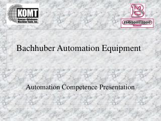 Bachhuber Automation Equipment