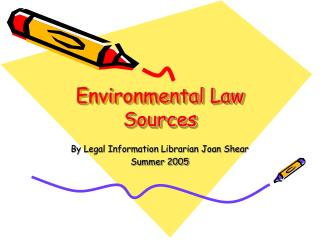 Environmental Law Sources