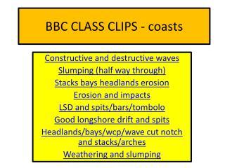 BBC CLASS CLIPS - coasts