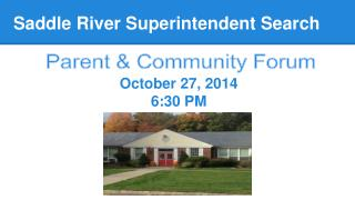 Saddle River Superintendent Search