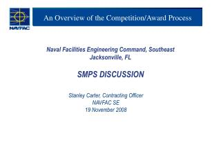 An Overview of the Competition/Award Process