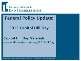 Federal Policy Update:  2012 Capitol Hill Day