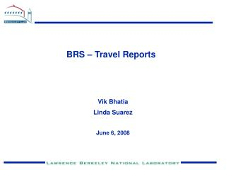 BRS – Travel Reports