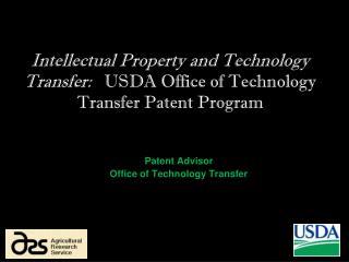 Patent Advisor Office of Technology Transfer