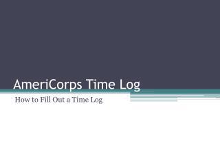 AmeriCorps Time Log