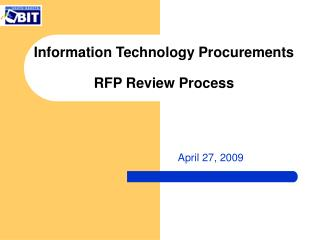 Information Technology Procurements RFP Review Process