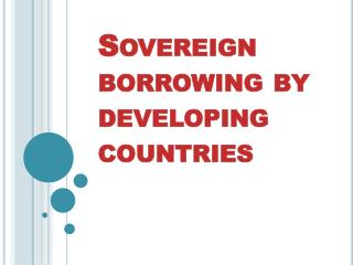Sovereign borrowing by developing countries