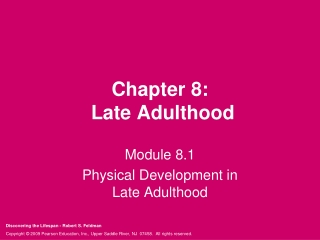 Chapter 8: Aging as the Fountain of Youth