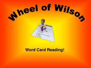 Word Card Reading!