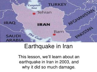 Earthquake in Iran