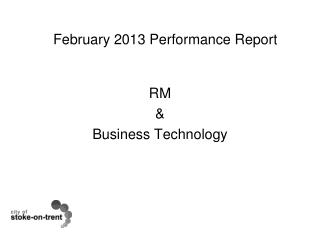 February 2013 Performance Report