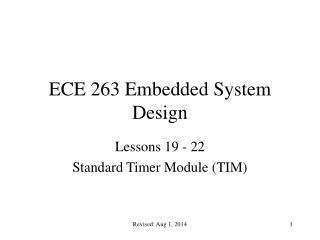ECE 263 Embedded System Design