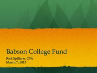 Babson College Fund