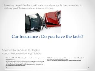 Car  Insurance : Do you have the facts?