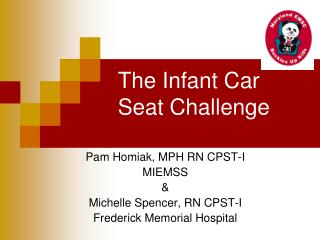 The Infant Car Seat Challenge