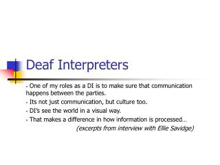 Deaf Interpreters