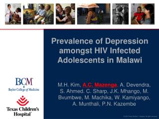 Prevalence of Depression amongst HIV Infected Adolescents in Malawi
