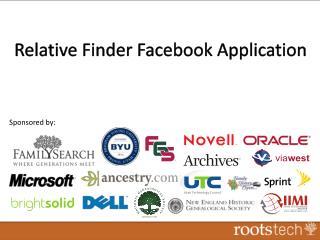 Relative Finder Facebook Application