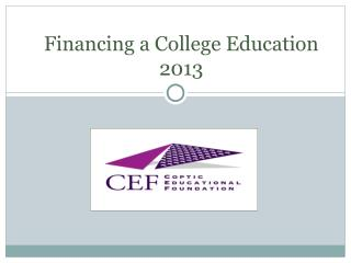 Financing a College Education 2013