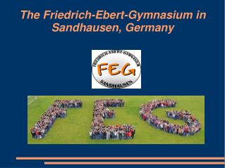 The Friedrich-Ebert-Gymnasium in Sandhausen, Germany
