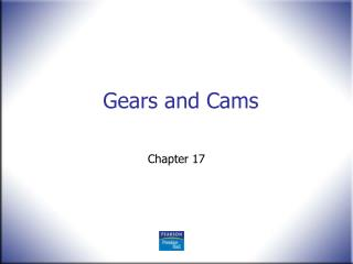 Gears and Cams