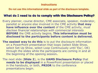 What do I need to do to comply with the Disclosure Policy?