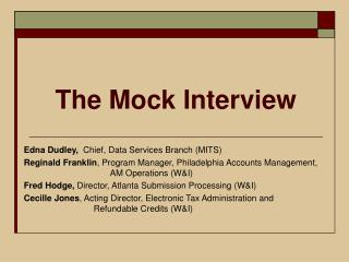 The Mock Interview