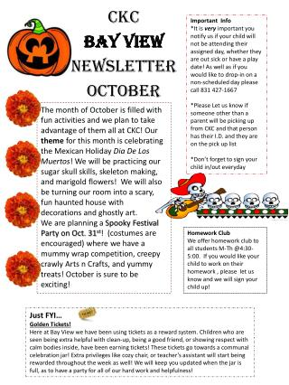 CKC  BAY VIEW NEWSLETTER OCTOBER