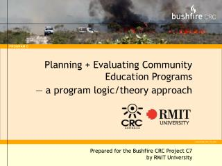 Planning + Evaluating Community Education Programs — a program logic/theory approach