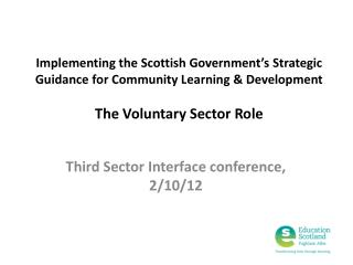 Third Sector Interface conference, 2/10/12