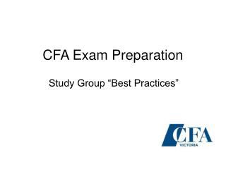 CFA Exam Preparation