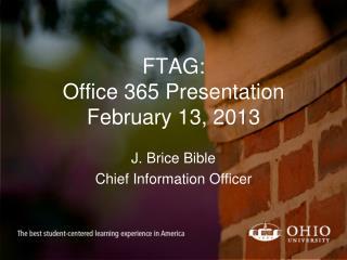 FTAG: Office 365 Presentation February 13, 2013