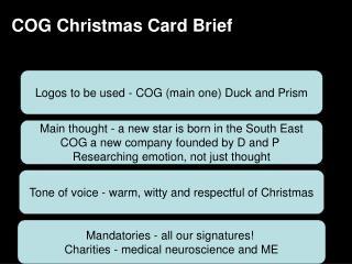 COG Christmas Card Brief