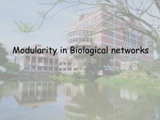 Modularity in Biological networks
