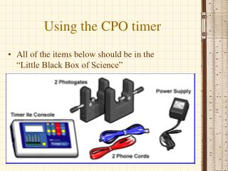 Using the CPO timer