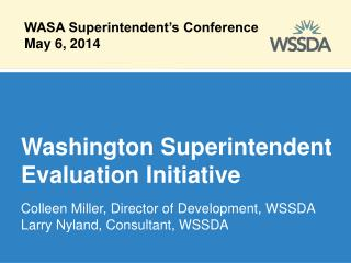 Washington Superintendent Evaluation Initiative