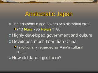 Aristocratic Japan