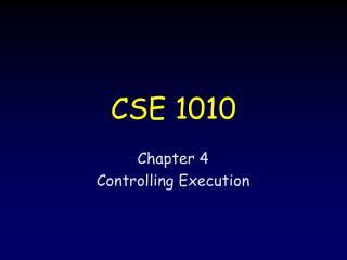 CSE 1010