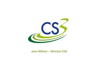 Jane Wilson – Director CS3