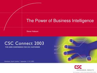 The Power of Business Intelligence