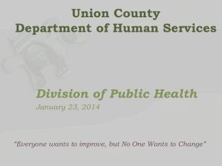 Union County  Department of Human Services