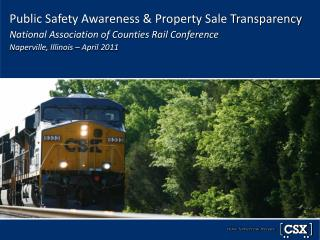 Public Safety is Job #1 for Railroads