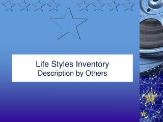 Life Styles Inventory Description by Others