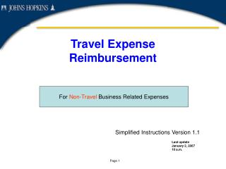 Travel Expense  Reimbursement